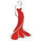 Frau im roten Abendkleid