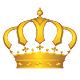 Goldene edle Krone