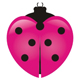 Marienchenkäfer im Form eines Herzen