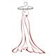 Abendkleid am Kleiderbügel