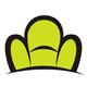 Stylischer grüner Sessel