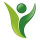Person im Form einer grünen Pflanze