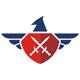 Adler mit Wappen und Schwert