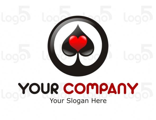 Pik Logo im Kreis mit Herz