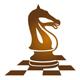 Schachfeld mit Pferd
