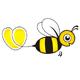 Biene mit einem Herz