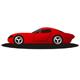 Roter Sportwagen - Autohändler Logo