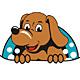Süßer Hund mit Knochen