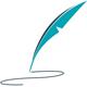 Feder mit Schreibspur - Logo für Texter