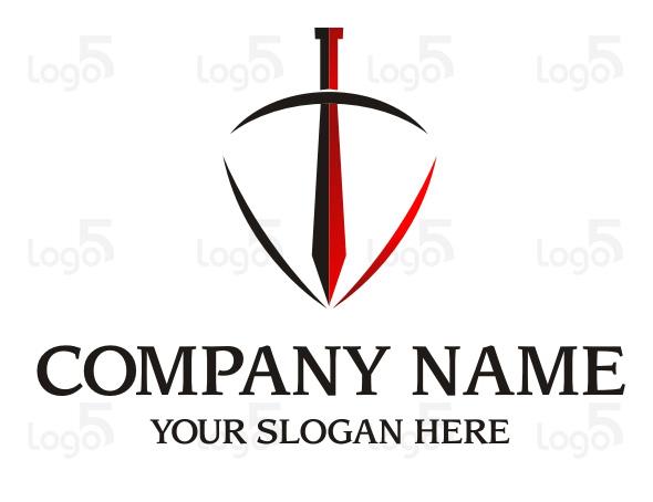 Schwert mit Schild - Logo für Krankenversicherung