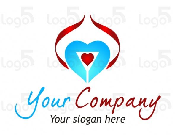 Dating Logo - Herz in Herz mit einer Schleife