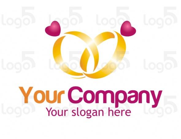 Trauring Logo - Trauringe mit einem Herzen