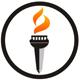 Fackel Logo - Brennende Fackel im Kreis