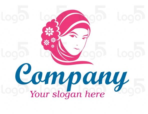 Kopftuch Logo - Kopftuch mit Blumen Turban Logo