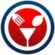Restaurant Logo - Gabel, Löffel und ein Sektglas