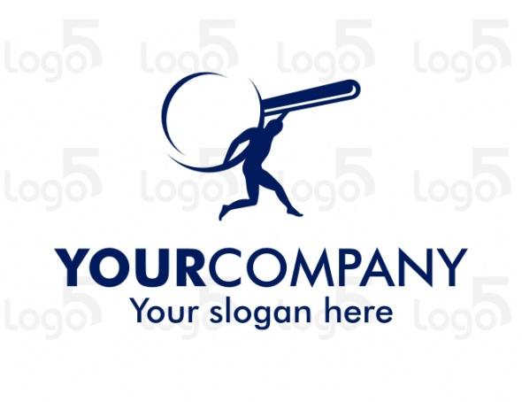 Logo für Suchservice - Mann trägt eine große Lupe