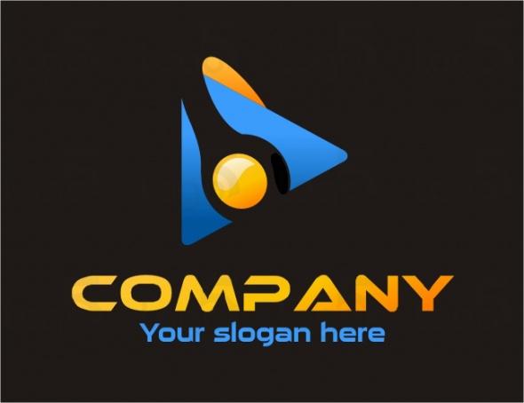 Fotograf Logo - Objektiv in einem Dreieck