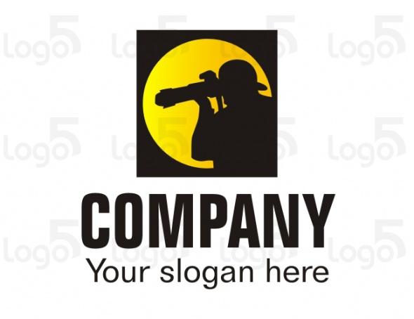 Paparazzi Logo - Fotograf mit Teleobjektiv