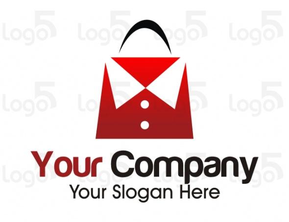 Shopping Logo -Einkaufstasche in form eines Hemdes