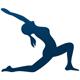 Yoga Logo - Dame bei einer Yoga Übung