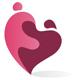Zwei geschwungene Personen ergeben ein Herz