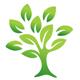 Baum mit organisch wachsenden Blättern