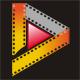Film in Form des Buchstaben D