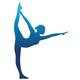 Balerina bei der Balettübung - Logo für Balletkurs