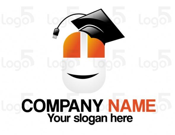 Maus mit Akademikerhut - Logo für Computerkurse