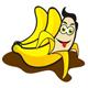 Eis Dessert mit Banane - Bannensplit