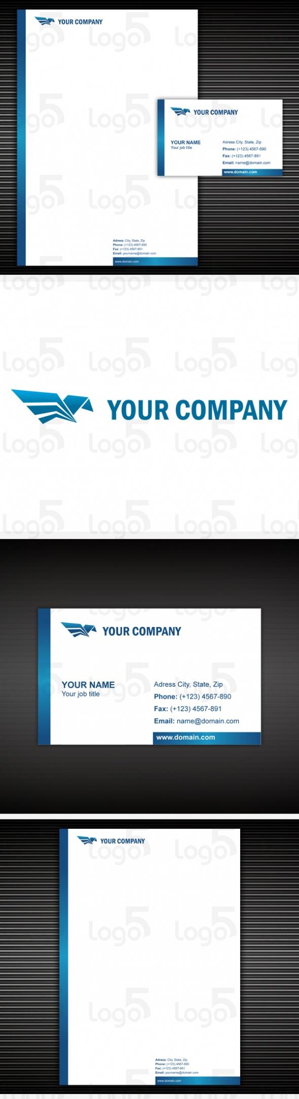 Logo, Briefpapier, Visitenkarte Set - 01