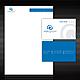 Geschäftspapier Set 11 - Blaue Spirale