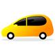 Sympathisches Auto in Gelb