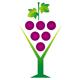 Weintrauben in einem Sektglas