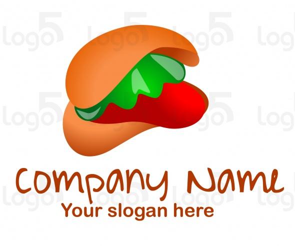 Hamburger mit Salat, Tomaten und Ketchup