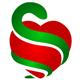 Apothekerlogo - Schlange umschingt ein Herz