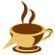 Kaffetasse mit Schnabel