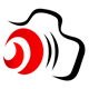 Kamera mit rotem Objektiv
