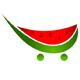 Wassermelonen Einkaufswagen - Obstshändler Logo
