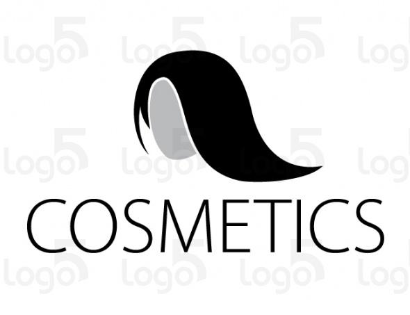 Lange schöne schwarze Haare - Logo für Barbier