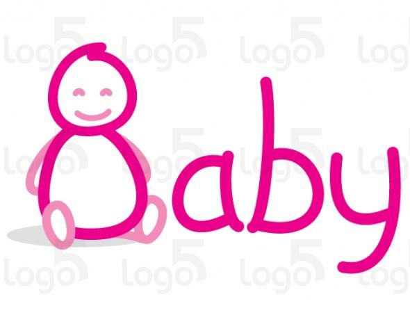 Baby Logo - Kleine puppenartiges Baby