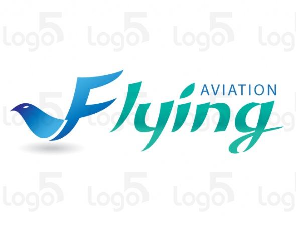 Vogel stellt Buchstaben F dar mit den Flügeln