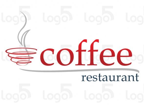 Spiralförmige Kaffeetasse - Logo für Café