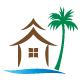 Haus am See und unter Palmen