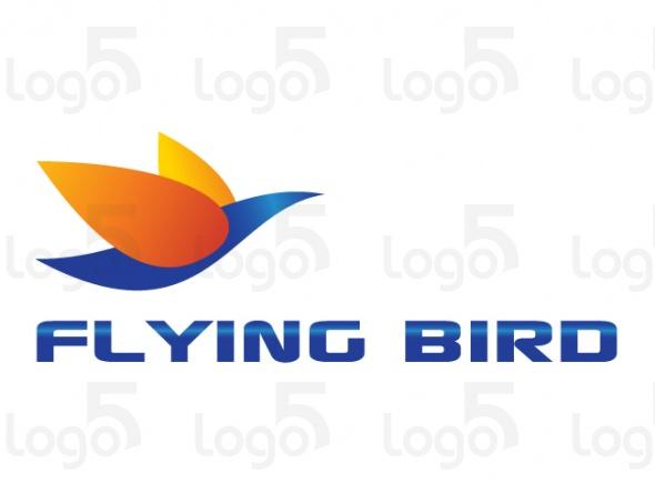 Bunter Vogel beim Fliegen