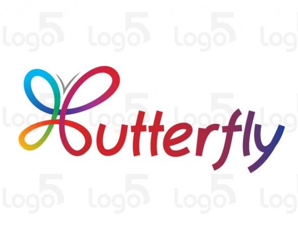 Schmetterling aus bunten Schleifen