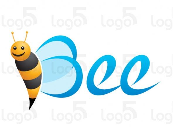 Bienenflügel bilden den Buchstaben B