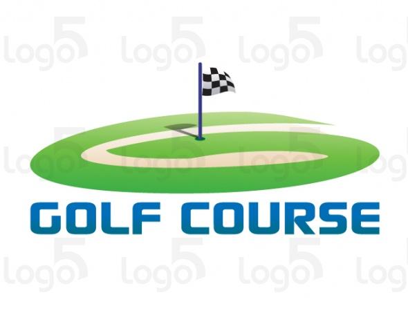 Golfplatz mit einer Flagge