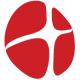 Kreuz auf roten abstraktem Hintergrund